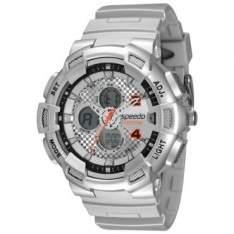 [RICARDO ELETRO] Relógio Masculino Speedo, Anadigi, Pulseira de Poliuretano, Caixa de 5,2 cm, Resistente à Água 10 ATM - 65075G0EVNP1 - R$83