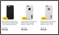 [Saraiva] Capa Dupla Camada Para iPhone 6 Plus  por R$ 9