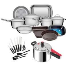 [Clube do Ricardo] Kit Sua Cozinha Completa (21 itens) - por R$439