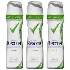 [Ponto Frio] Desodorante Rexona Bamboo Women Aerosol Comprimido 85ml - 3 Unidades - R$ 25,77