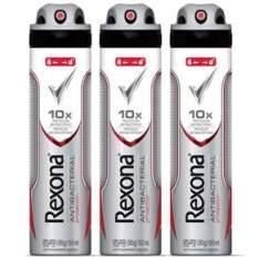 [Ponto Frio] Desodorante Antitranspirante Aerosol Rexona Antibacterial Protection 90g - 3 Unidades - R$26