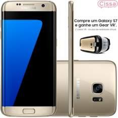 [CISSA MAGAZINE] Compre 01 Smartphone Samsung Galaxy S7 Edge G935F 32GB 4G Desbloqueado e GANHE 01 óculos Gear VR - R$3200
