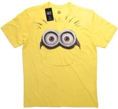 [Saraiva] Camiseta Minion Face Infantil - Tamanho 4 Anos  por R$ 9