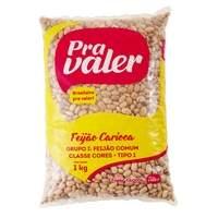 [EXTRA] Feijão Carioca Tipo 1 Pra Valer Pacote 1kg - R$5,89