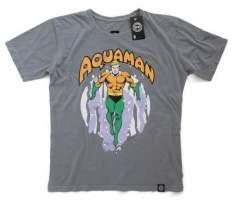 [SARAIVA] Camiseta Aquaman Vintage - Tamanho P