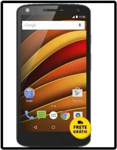 "[Saraiva] Smartphone Moto X Force Dualchip Preto 4G Tela 5.4"" Android Lollipop 5.1.1 Câm 21Mp 64Gb"