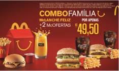 [MC Donalds] Combo Familia McLanche Feliz + 2 MC OFERTAS