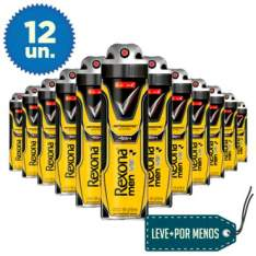 [Ricardo Eletro] 12 Desodorantes Aerosol Rexona Men V8 150ml - R$100