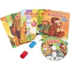 [Casa&video] Kit 8 Livros Infantis+Óculos 3D+CD Pequenos Filhotes por R$ 5