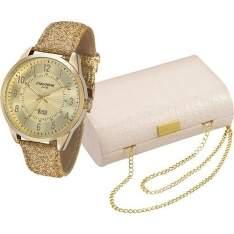 [SHOPTIME] Relógio Feminino Mondaine Analógico Fashion 76482lpmvdh1k1 + Bolsa