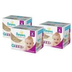 [Walmart] 3 Pacotes de Fraldas  Premium Care Jumbo Pampers M ou G - por R$194