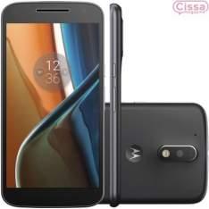 [Cissa Magazine] Smartphone Motorola Moto G4 16GB Dual XT1626 Desbloqueado Preto por R$ 1070