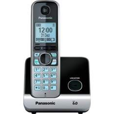 [EFACIL] Telefone s/Fio Dect 6.0 KX-TG6711LBB Preto Identificador de Chamadas Panasonic - Telefone Sem Fio POR R$ 250