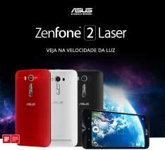 "[Submarino] Smartphone ASUS ZenFone 2 Laser Dual Chip Desbloqueado Android 5 Tela 5.5"" 16GB 4G 13MP - Preto por R$ 846"