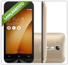 [Kabum] Smartphone Asus Zenfone Go ZB452KG-6G014BR, Quad Core, Android 5.1, Tela 4,5´, 8GB,Câmera 5MP, 3G, Dual Chip Desbloqueado - Dourado por R$ 499
