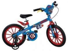 [Magazine Luiza] Bicicleta Infantil Bandeirante Capitão América - Aro 16 Freio V-brake por R$ 169