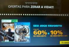 [Saraiva] Jogos com até 60% + 10% (à vista) de desconto