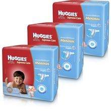 [Walmart] 3 Fraldas Huggies Supreme Care Meninos Tam G ou XG - por R$140