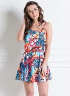 [Posthaus] Vestido de Alças Estampado