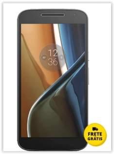 "[Saraiva] Smartphone Motorola Moto G 4 Preto 4G Tela 5.5"" Android 6.0.1 Marshmallow Câm 13Mp Dualchip 16Gb por R$ 1028"