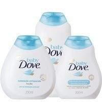[Pão de Açúcar] kit Baby Dove Hidratação loção ( Shampoo + Condicionador + Colônia) - por R$26