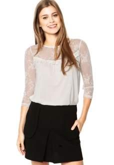 [DAFITI] Blusa Facinelli Renda Branca