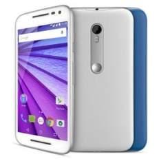 [Extra] Smartphone Moto G™ (3ª Geração) Colors XT1543 Branco com 16GB, Tela de 5'', Dual Chip, Android 5.1, 4G, Câmera 13MP e Processador Quad-Core de 1.4 GHz por R$ 799