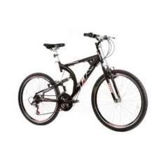 ( ricardo eletro ) Bicicleta Aro 26  XK-400 21 Marchas, Full Suspension, Quadro em Aluminio, Aro AERO, Preto - Track & Bikes (atenção frete gratis pra todo brasil corre vai acabar
