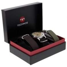[Ricardo Eletro] Kit Relógio Masculino Technos Performance Military ,Pulseira de Nylon + Troca Pulseiras - 2035LWT/0B por R$ 135