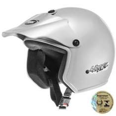 [www.wallmart.com.br] Capacete Aberto Liberty ABS Com Pala Removível Pro Tork - Prata - 58