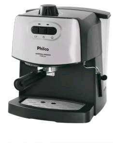 [Sou Barato] Cafeteira Expresso Philco 15BAR 2 Filtros Inox e Preto - 110/220 volts por R$220