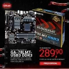 [Kabum] Placa-Mãe GIGABYTE p/ AMD AM3+ Edição Especial KaBuM!