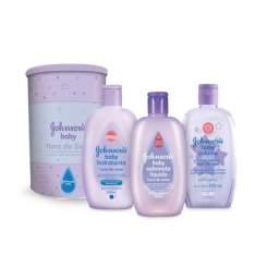 [Drogaria SP] Kit Johnson's Baby Hora do Sono Sabonete Líquido 200ml + Loção Hidratante 200ml + Colônia 200ml - por R$31