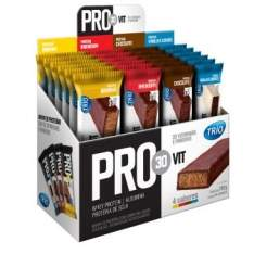 [Clube do Ricardo] Trio Pro30Vit 4 sabores de Barras de Proteína com 24 unidades - R$49,90