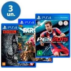 [Clube do Ricardo] Kit com 03 Jogos para Playstation 4 - R$130