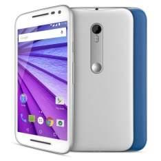 [CASAS BAHIA]  Smartphone Moto G™ (3ª Geração) Colors Branco com 16GB, 12 x s/ juros - R$799