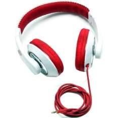 [Sou Barato] Fone de Ouvido Smarts Supra Auricular Branco/Vermelho - SM-0016 - R$21
