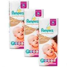 [Kangoolu] Fralda Especial Pampers Premium Care P 168 unidades - por R$131