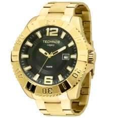 [ClubeDoRicardo] Relógio Masculino Technos, Pulseira de Aço Dourada, Mostrador Preto, Caixa de 5.2 CM - 2315AAO/4P Por R$ 439