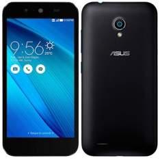 """[EFACIL]Smartphone Asus Live Dual Chip, Preto, Tela 5"""", 3G+WiFi, Android 5, 8MP, 16GB, 2GB RAM, TV Digital + Grátis Película de Vidro POR R$ 650"""