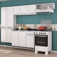 [EFACIL] Cozinha Completa Rose 10 Portas/1 Gaveta de Aço Branco - Itatiaia POR R$ 585