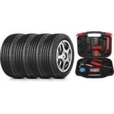 [Walmart] Kit com 4 Pneus Goodyear Aro 14 185/65R14 86H Direction Sport + Caixa de Ferramentas 110 Peças Preto e Vermelho Super Tech por R$ 829