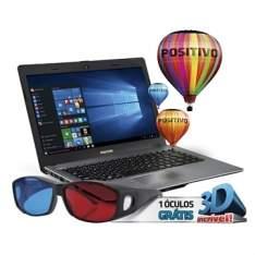 "[EFACIL] Notebook Stilo XR3500 Intel Celeron, 2GB RAM, SSD 32GB, Tela 14"", 3D, Windows 10, Cinza - Positivo POR R$ 1060"