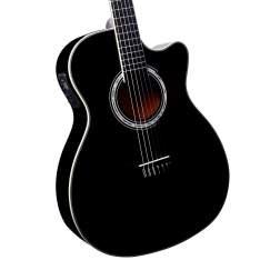 [Walmart] Violão Di Giorgio Wings Black - Cordas de Nylon com Equalizador, Afinador Digital, Cutway, Tensor + Capa Grátis - R$419