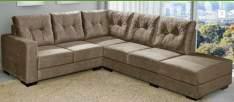 ENCERRADA (Walmart) Sofá de Canto American Comfort 5 Lugares Sevilha Suede Amassado Marrom por R$ 898