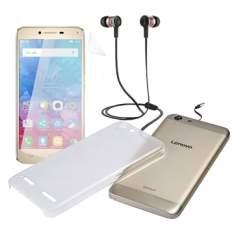 """[EFACIL] Smartphone Vibe K5 Edição Especial, Dual Chip, Dourado, Tela 5"""", 4G+WiFi, Android 5.1, 13MP, 16GB - Lenovo POR R$837"""