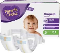 [Walmart] Fraldas Parent's Choice PP por R$0,48 a unidade e M por R$0,77 a unidade