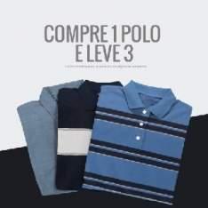 [Kanui] 3 camisas polo masculina por R$100