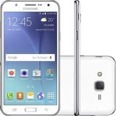 """[Sou Barato] Smartphone Samsung Galaxy J7 Duos Dual Chip Desbloqueado Android 5.1 5.5"""" 16GB 4G 13MP - Branco por R$ 980"""