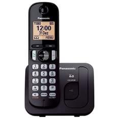 [EFACIL] Telefone sem Fio KX-TGC210LBB Preto Dect 6.0, Viva-Voz - Panasonic POR R$159